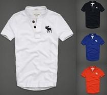 美国A&F正品代购新款夏日欧美范个性男士立领短袖T恤【多色】 价格:228.00