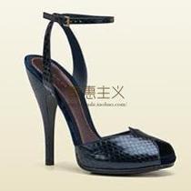 美国代购古奇Gucci女鞋凉鞋鱼嘴高跟蟒蛇皮真皮304709 E3B00 4113 价格:8650.00