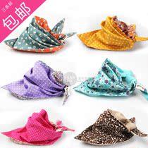 三条起包邮 韩国贝萌口水巾 双面双色纯棉三角巾 个性款婴儿围嘴 价格:16.80