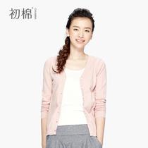 初棉春秋装女外套长袖针织衫防晒衣开衫韩版针织衫女大码薄空调衫 价格:89.00