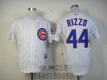 MLB球服 Chicago Cubs小熊队 44 Rizzo white blue strip Jersey 价格:80.00
