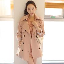 时尚 淑女气质 韩版风衣 2013秋季新款风衣外套女 袖口蕾丝双排扣 价格:178.00