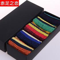 最炫民族风袜子 男士潮袜 棉袜超强吸湿排汗中筒休闲袜礼盒5双装 价格:32.00
