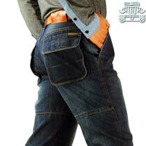 13秋冬厚款afs JEEP工装牛仔裤专柜正品立体口袋休闲男装牛仔长裤 价格:138.00