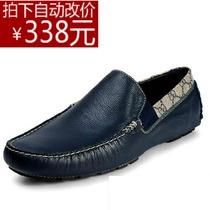 奢侈品牌gu英伦时尚男鞋子新款船鞋低帮透气驾车鞋舒适真皮鞋单鞋 价格:1338.00