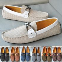 2013新款BV男鞋休闲鞋 压花纹格男皮鞋 鞋底比豆豆鞋要耐磨损 价格:220.00