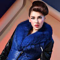 北极绒冬装2013正品新款女士中长款狐狸大毛领羽绒服修身保暖外套 价格:3058.00