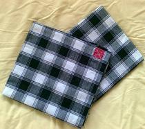 闽南风俗 黑白方格子布纯棉新生婴儿宝宝包被抱毯披风防风避邪 价格:12.80