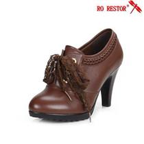 春秋新款香港红蜻蜓女单鞋时尚韩版真皮高跟防水台女式牛皮鞋包邮 价格:158.00