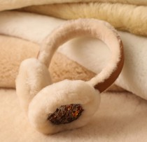 2013新款澳洲进口羊剪绒羊毛亮片耳罩 羊毛耳套 价格:168.00