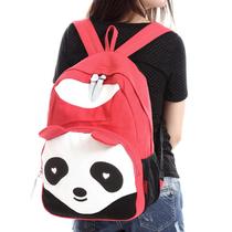 学生书包 双肩包 韩版潮 学院风 电脑包卡通小熊猫帆布包包女背包 价格:35.80