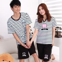 夏季男女人情侣睡衣 居家棉质短袖卡通可爱家居服套装 价格:16.80