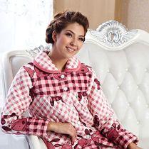 2012冬季女士夹棉 多拉美加厚珊瑚绒夹棉加厚棉袄睡衣套装CN42432 价格:236.64