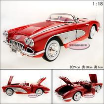 五皇冠 正品 1958 克尔维特 老爷车 红 1:18 精致 合金车模型 价格:168.00