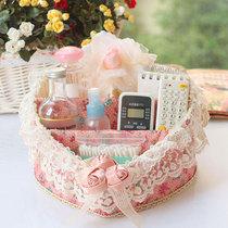 [蔷薇之恋] 包邮 大号 蕾丝遥控器收纳篮 化妆品桌面收纳盒 价格:48.00