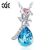CDE施华洛世奇元素水晶纯银项链 女韩版时尚短款锁骨夸张生日礼物 价格:128.00