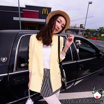 橘子郡2013秋装 新款女装 波浪边简约修身显瘦 潮小西装外套韩版 价格:125.00