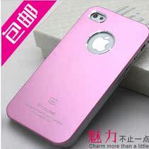 iPhone4s手机壳金属苹果4手机壳超薄磨砂iphone4手机壳男外壳包邮 价格:9.90
