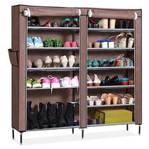 佳尚家居简易鞋柜 宜家鞋架 特价包邮 双排六层加厚防尘布鞋柜 价格:49.00