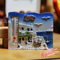 希腊GREECE 爱琴海上的蓝白物语冰箱贴磁性贴 旅游纪念 价格:20.00