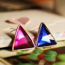 2013年最流行新款 饰品批发 水晶耳环电镀真金 简单大方 韩国进口 价格:12.98