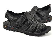 卡丹路 男式 L335310 质感荔枝纹牛皮透气网眼魔术贴凉鞋★正品 价格:236.00
