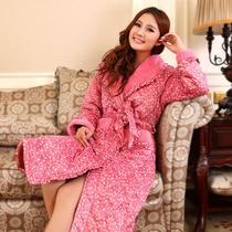 2013冬季女士高档甜美加厚夹棉睡衣套装睡袍家居服浴袍加厚 价格:148.00