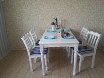 厂家直销可定制/田园实木餐桌/宜家餐桌椅一桌四椅整套售价1288 价格:1288.00