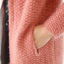 简优蜜2013秋装新款韩版简约圆领长袖中长款马海毛针织开衫外套女 价格:89.00