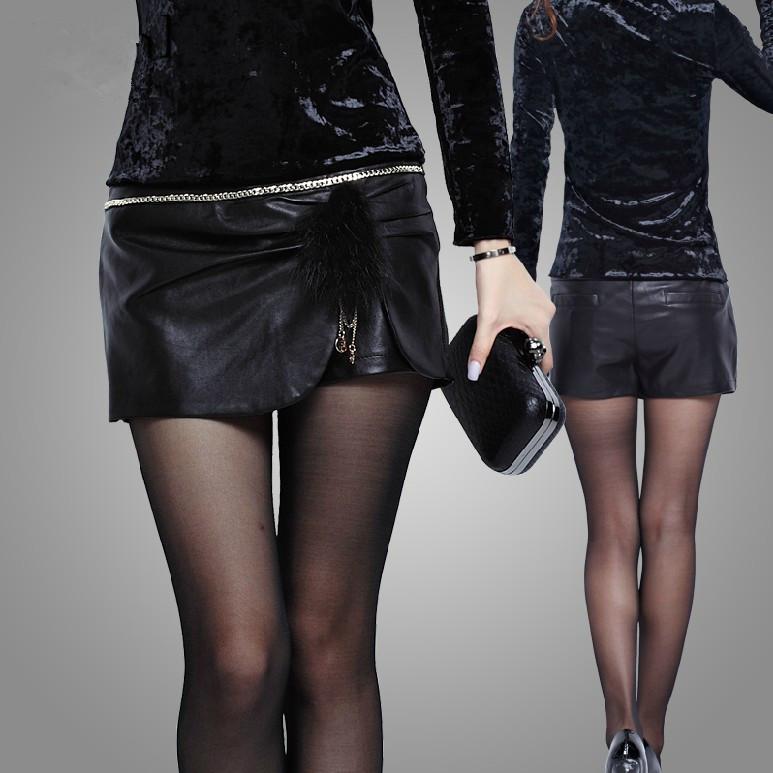 包邮2013秋冬新款韩版时尚短裤裙百搭皮裤裙靴裤半身皮裙裤pu女春 价格:59.00