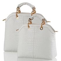 包邮大牌鳄鱼纹女包2013春季新款韩版潮女士包通勤休闲手提包单肩 价格:61.00