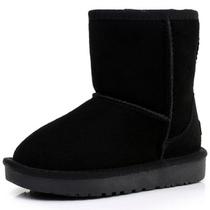 新款正品爱莱希真牛皮短筒保暖儿童雪地靴短靴子男女童靴童鞋棉鞋 价格:55.00