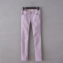 外贸原单女装简洁修身压皱显瘦休闲长裤小直筒裤 有大码 价格:29.99