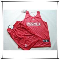 火箭队篮球衣篮球服比赛运动服男背心套装训练服双面穿球衣可印号 价格:75.00