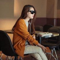 2013秋装新款女装 韩版宽松口袋气质长袖毛针织衫女开衫 外套 价格:79.00