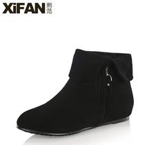 熙范2013秋冬新款韩版时尚真羊皮平底短靴 平跟短靴马丁靴 靴子女 价格:168.00