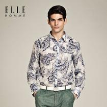 【中秋限时2折】法国奢华品牌 ELLE男装青花瓷男士衬衫 二折区 价格:265.00
