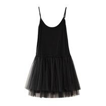 秋装连衣裙 新款女装韩版莫代尔吊带打底裙无袖蕾丝蓬蓬裙 大码 价格:55.00
