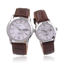正品伯尼手表 蓝宝石 防划情侣表全自动机械表 皮带手表 新款对表 价格:1250.00