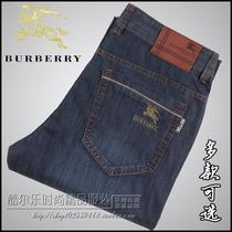 夏款巴宝莉男士牛仔裤 专柜正品BURBERRY商务休闲直筒牛仔裤男裤 价格:860.00