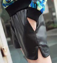 2013春装必备欧美大牌定制万能百搭款PU皮质小短裤D08 价格:19.80