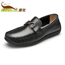 奥康康龙 2013秋季新品 头层皮舒适懒人套脚男鞋单鞋 休闲驾车鞋 价格:149.59