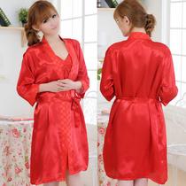 【5折】春夏季女士丝绸 家居服 吊带睡衣 睡袍 两2件套 提花袍 价格:116.00
