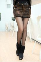 专柜正品 2013春秋装新款韩版大码女装修身鹿皮绒包臀裙超短裙 价格:207.00