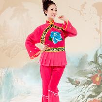 秧歌服 2013新款 爱上舞新款秧歌服 现代舞蹈服 广场舞表演服装 价格:68.00