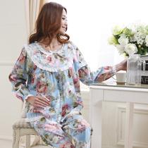 2013庆同新品春夏季睡衣女款梭织碎花纯棉布长袖家居服两件套 价格:68.00