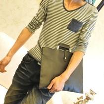 简洁时尚 韩版休闲包 电脑包 手提包 公文包 男士潮流文件包 B09 价格:38.00