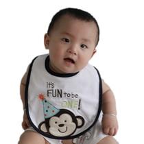 卡特 特大号 纯棉 毛巾料防水婴儿口水巾围嘴 围兜 口水巾 价格:8.80