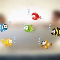 卡通墙贴纸 原10元现1元22003可爱小鱼 客厅卧室卫生间墙贴画贴花 价格:1.00