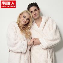 【包邮】南极人正品温暖羊羔绒居家休闲加厚情侣浴袍男女睡衣睡袍 价格:99.00